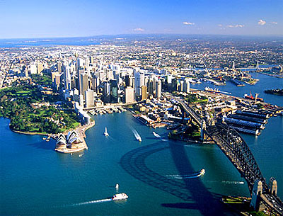 pic of sydney by air